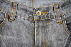 Gray jeans front Royalty Free Stock Images