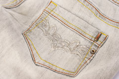 Gray jeans stock images