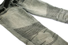 Gray jeans Royalty Free Stock Photography