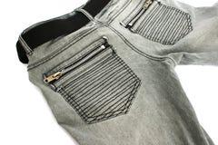 Gray jeans Stock Photos