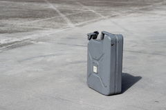 Gray jerrycan Stock Photo