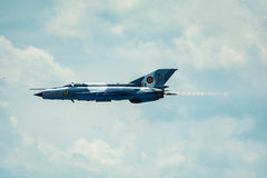 Gray Jet Plane on Air at Daytime Stock Images