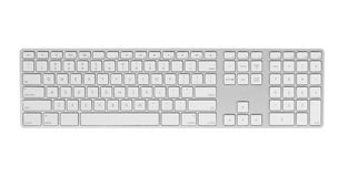 Gray keyboard isolated on white background. Royalty Free Stock Image