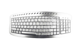 Gray keyboard. Stock Photos
