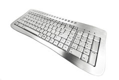 Gray keyboard. Royalty Free Stock Images