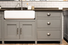 Gray Kitchen Sink. Grey Gray Luxury Bespoke Kitchen Sink stock photos