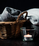 Gray knit Royalty Free Stock Images