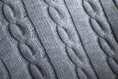 Gray Knit Sweater Detail arkivbilder
