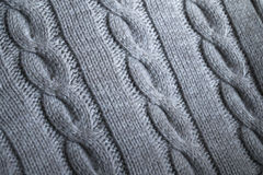 Gray Knit Sweater Detail Stock Images