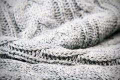 Gray knit texture Royalty Free Stock Photos