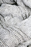 Gray knit texture Royalty Free Stock Photography
