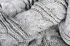 Gray knit texture Royalty Free Stock Images
