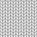 Gray Knit Texture Seamless Pattern Fondo di vettore royalty illustrazione gratis
