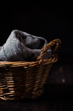 Gray knitted blanket Royalty Free Stock Image