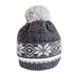Gray knitted cap Royalty Free Stock Photo
