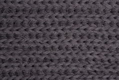 Gray knitted fabric Royalty Free Stock Photo