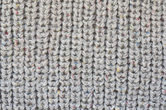 Gray knitted fabric texture Royalty Free Stock Photo
