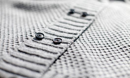 gray knitted jacket Stock Images