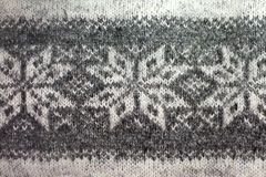 Gray knitted  pattern Stock Images
