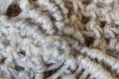Gray Knitted Wool imagens de stock royalty free