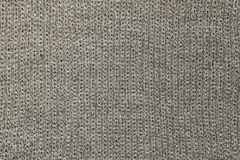 Gray knitted wool texture or background Stock Photos