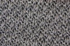 Gray knitting Royalty Free Stock Photo