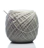 Gray Knitting Roll Stock Photo