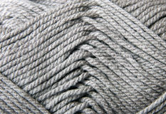 Gray knitting wool texture. Stock Photo