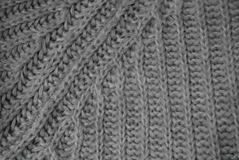 Gray knitwear background Royalty Free Stock Photography
