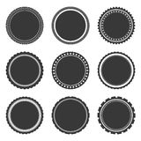 Gray Labels Temlates Royalty Free Stock Images