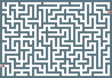 Gray labyrinth Royalty Free Stock Photo