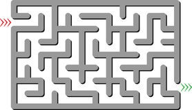 Gray labyrinth Stock Photography