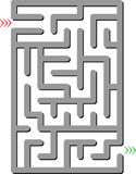 Gray labyrinth Royalty Free Stock Photography