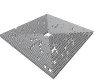 Gray labyrinth maze Stock Photography