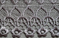 Gray lace Stock Image