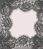 Gray Lace Card Lizenzfreies Stockbild