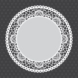Gray Lace doily background Stock Images