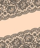 Gray Lace. Greeting Card. Stock Photo