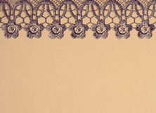 Gray lace on paper Royalty Free Stock Photos