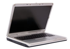 Gray laptop Stock Images