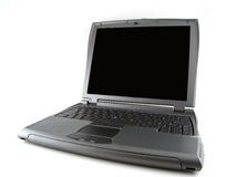 Gray laptop computer Royalty Free Stock Photography