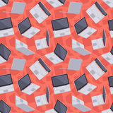 Gray laptop seamless pattern Royalty Free Stock Image