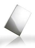 Gray laptop on white Royalty Free Stock Image