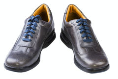 Gray leather man's shoes Royalty Free Stock Photo