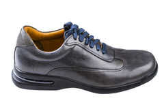 Gray leather man's shoes Stock Images