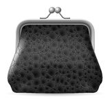Gray Leather Purse Stock Images