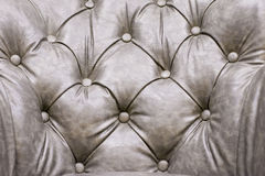 Gray leather seats Royalty Free Stock Photography