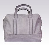 Gray leather woman bag Stock Image