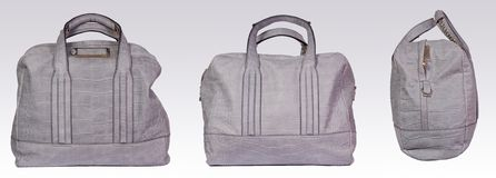 Gray leather woman bag Royalty Free Stock Image