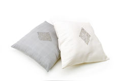 Gray and light brown pillow Stock Photos